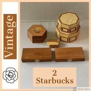 5 Decorative Variety Boxes 2 Starbucks 1980-2000